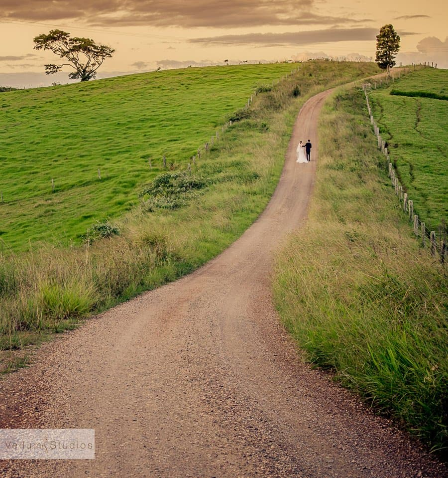 Wedding Photography Brisbane - Country lane